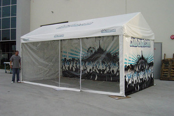 10x20 custom printed gable frame end tent My Club Zone