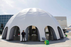 50ft giant inflatable white dome event tent