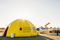 Custom printed inflatable dome event tent with business logo LLS
