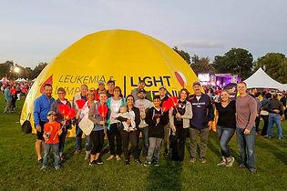 Custom printed inflatable dome tent Leukemia