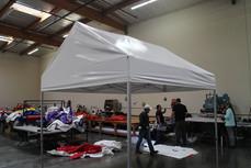 10x10 pop up gable roof frame tent white