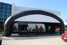 Large inflatable arch event tent black