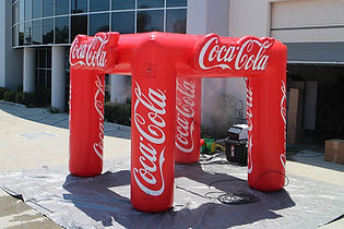 10x10 inflatable misting station with business logo Coca-Cola