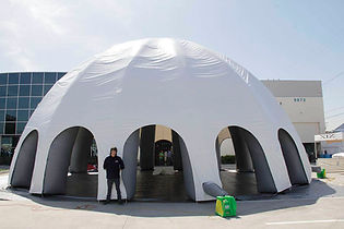 Giant inflatable white spider dome event tent