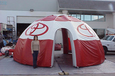 Custom printed inflatable dome event tent with logo Toyota