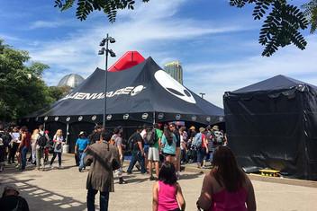Large custom printed frame tent Alienware