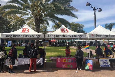 10x10 Custom printed canopy with logo Long Beach  City College