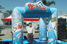 10x10 Inflatable cooling misting tent 98.7 The Peak