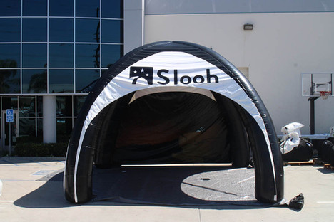 20x20 inflatable spider dome tent with company logo Slooh