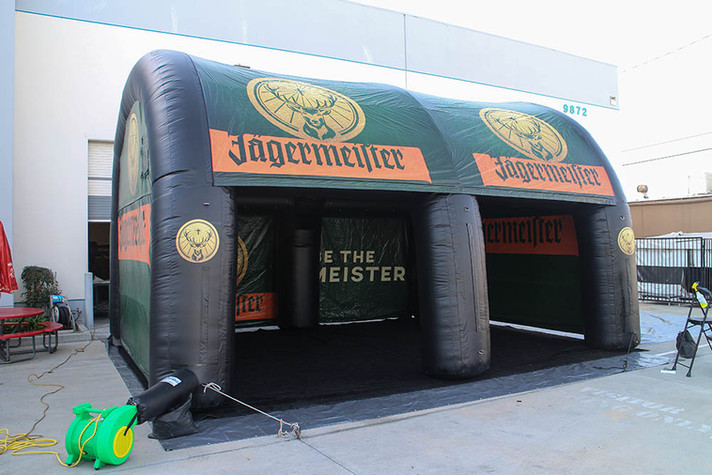 Custom printed inflatable event arch tent with company logo Jagermeister
