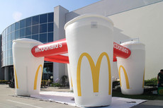 Custom made inflatable tent for McDonald's