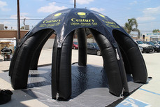 Custom inflatable spider dome tent with business logo Century