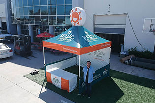 10x10 custom printed pop up tent with advertising inflatables