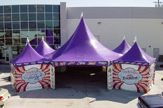 Hexagon custom printed high peak tents