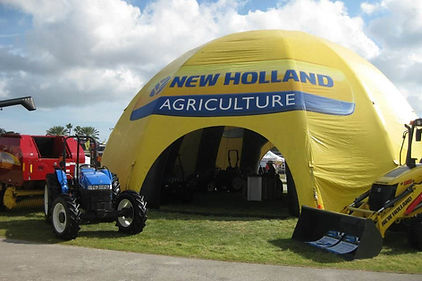 Custom printed dome tent New Holland Agriculture