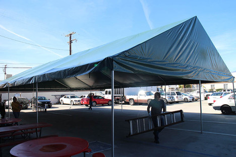 20x40 large gable roof frame event tent green