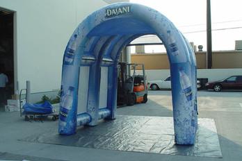 10x10 Custom inflatable misting arch tent Dasani