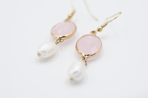 Blush and Pearl Bridesmaid Earrings