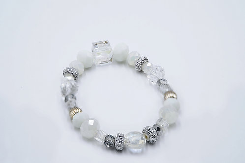 White and Silver Crystal Bracelet
