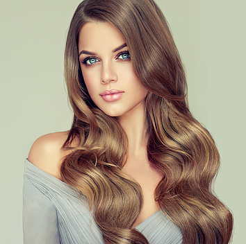 Custom blended clip-in extensions