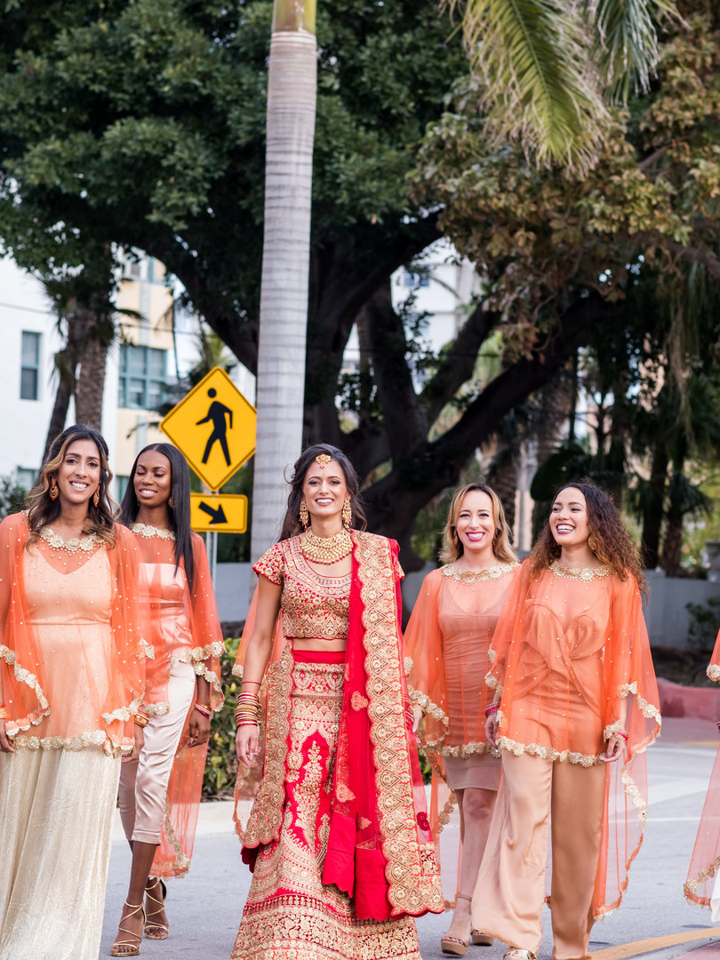 Multicultural wedding in Miami