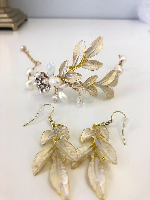 Champagne Luxury Leaves Bracelet