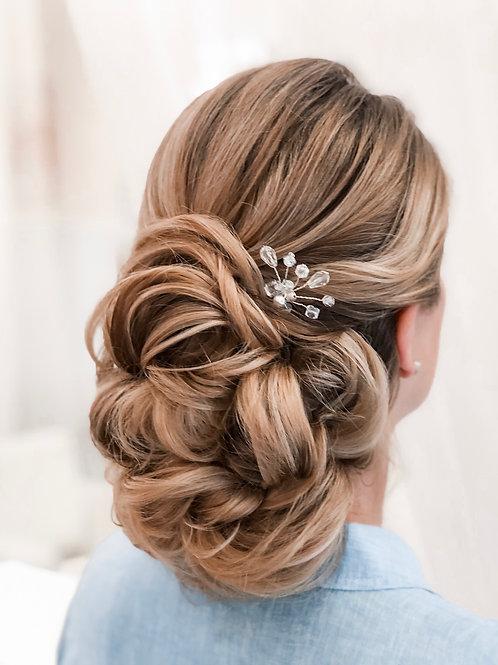 Mallory Petite Silver Sparkle Hair Pin