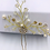 Thumbnail: Lilly-Champagne Pearl Cluster Hair Pin
