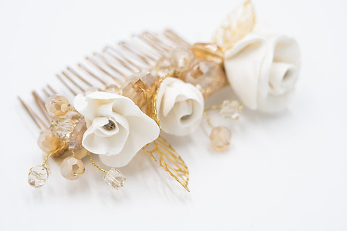 Mallory White and Gold Rose Garden