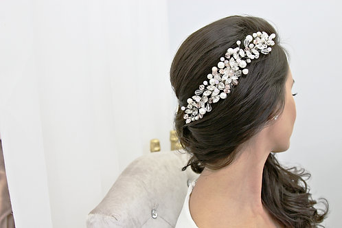 Aria Extravagant Crystal and Pearl Headpiece