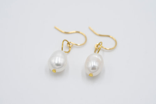 Pearlescent One Drop Pearl Earrings