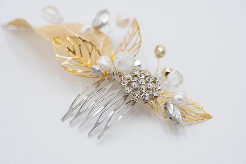 Priscilla 18k Gold and Pearl Bridal Comb