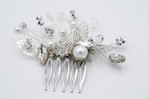 Jessica Silver and Pearl Bridal Comb