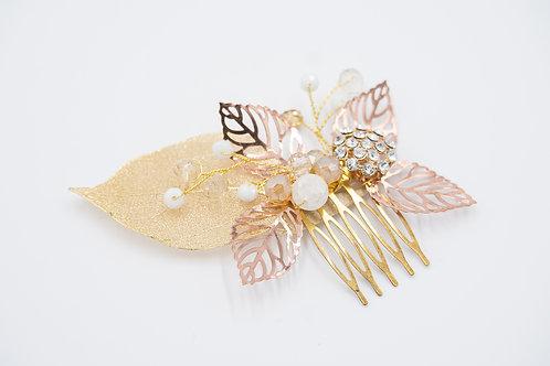 Bella Rose Gold Bridal Hair Comb