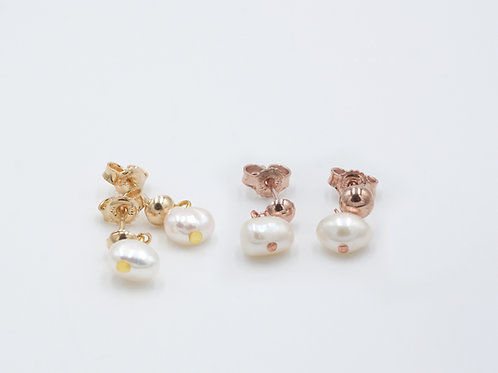 Rose Gold Flower Girl Earrings