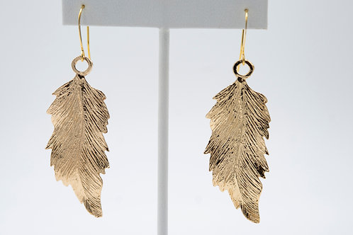 Gold Glam Leaf Earrings