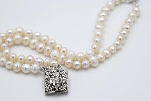 Ivory Double Pearl Bracelet