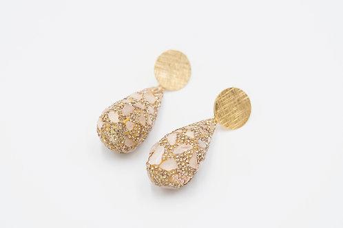 Rose Quartz Sparkle Earrings