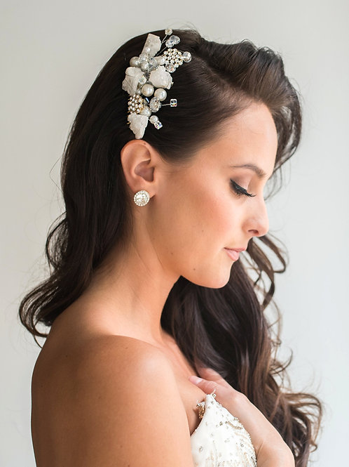 Ava Glistening Rock Bridal Hair Comb