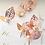 Thumbnail: Aleesha Rose Gold Leaf Hair Pins