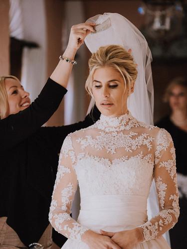 Veil placement on our gorgeous bride