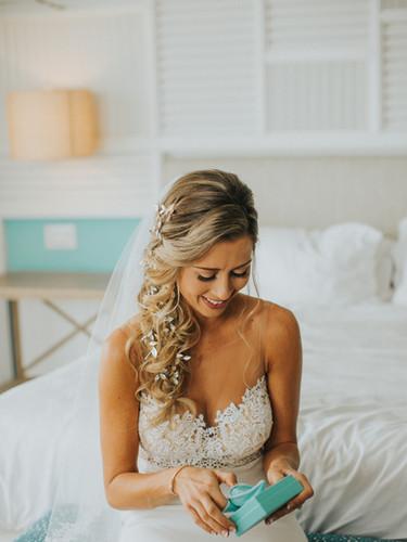 Braided weddng hair with our custom hair vine