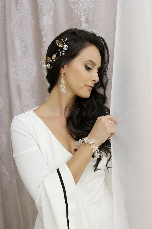Gold Silk Organza Earrings