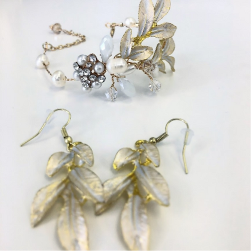 Champagne Luxury Leaves Jewelry set