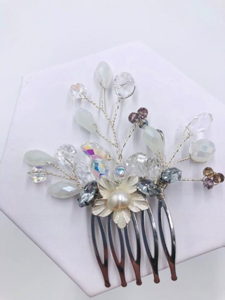 Ashlynn Opal Pearl Hair Comb