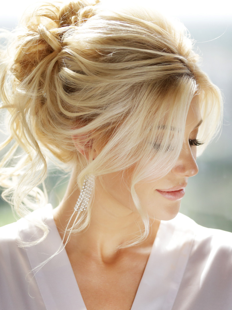 Hair extensions with updo