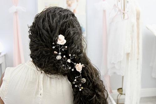 Molly Blush Garden Bridal Hair Vine