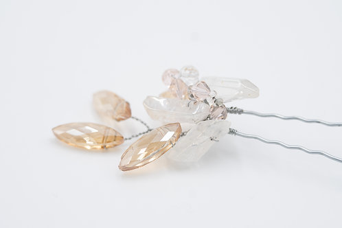 Maia Champagne Crystal Hair Pin