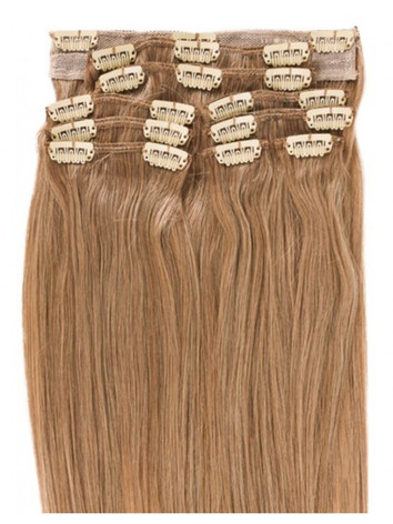 Medium honey blonde clip-in extensions