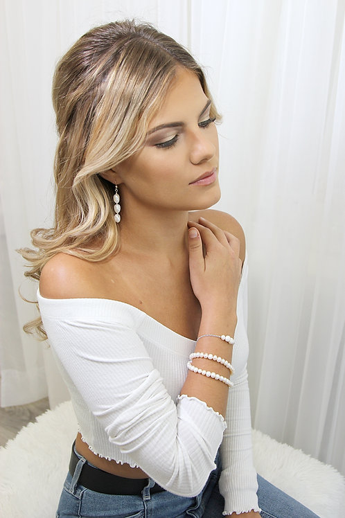 Gold Pearl Princess Bracelet